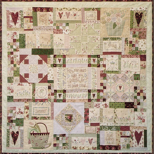 Leanne's House Block of The Month Quilt - FULL SET
