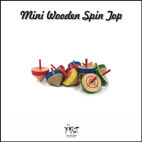 Mini Wooden Spin Top   Toys   The Old Skool SG