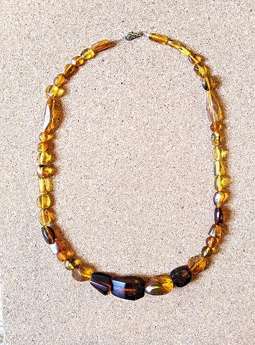 Mayan Amber Necklace