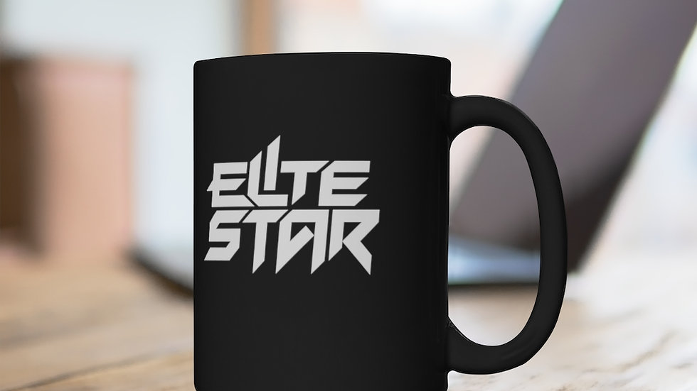 Elite Star Black Mug 15oz