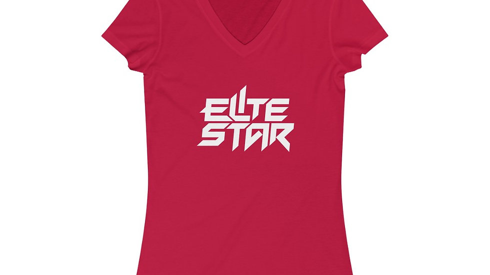 Elite Star Women's Jersey Short Sleeve V-Neck Tee
