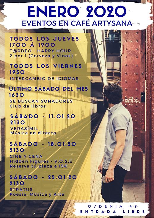January 2020 Eventos en Café ArtySana.pn