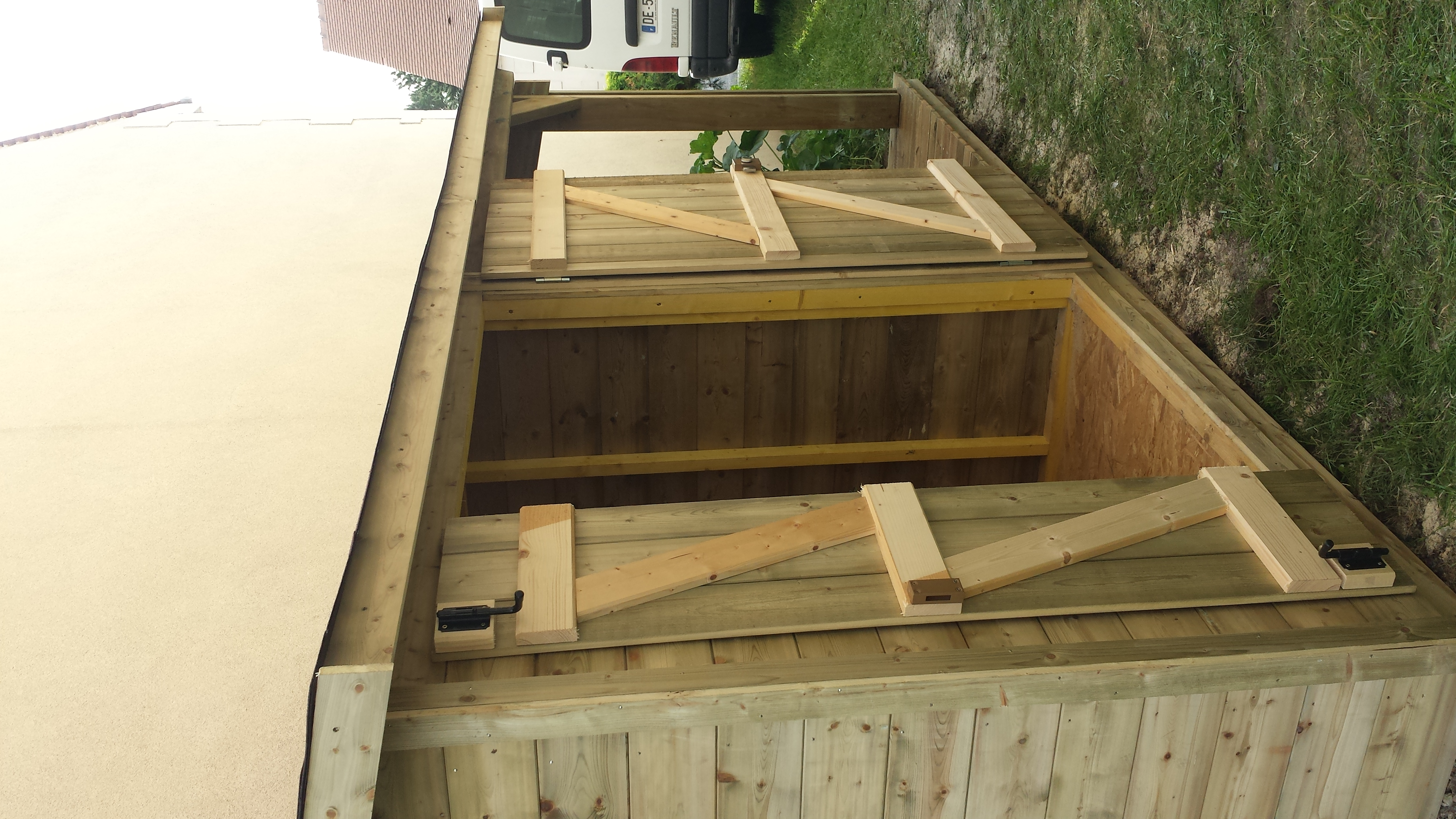 Abri de jardin Colin construction