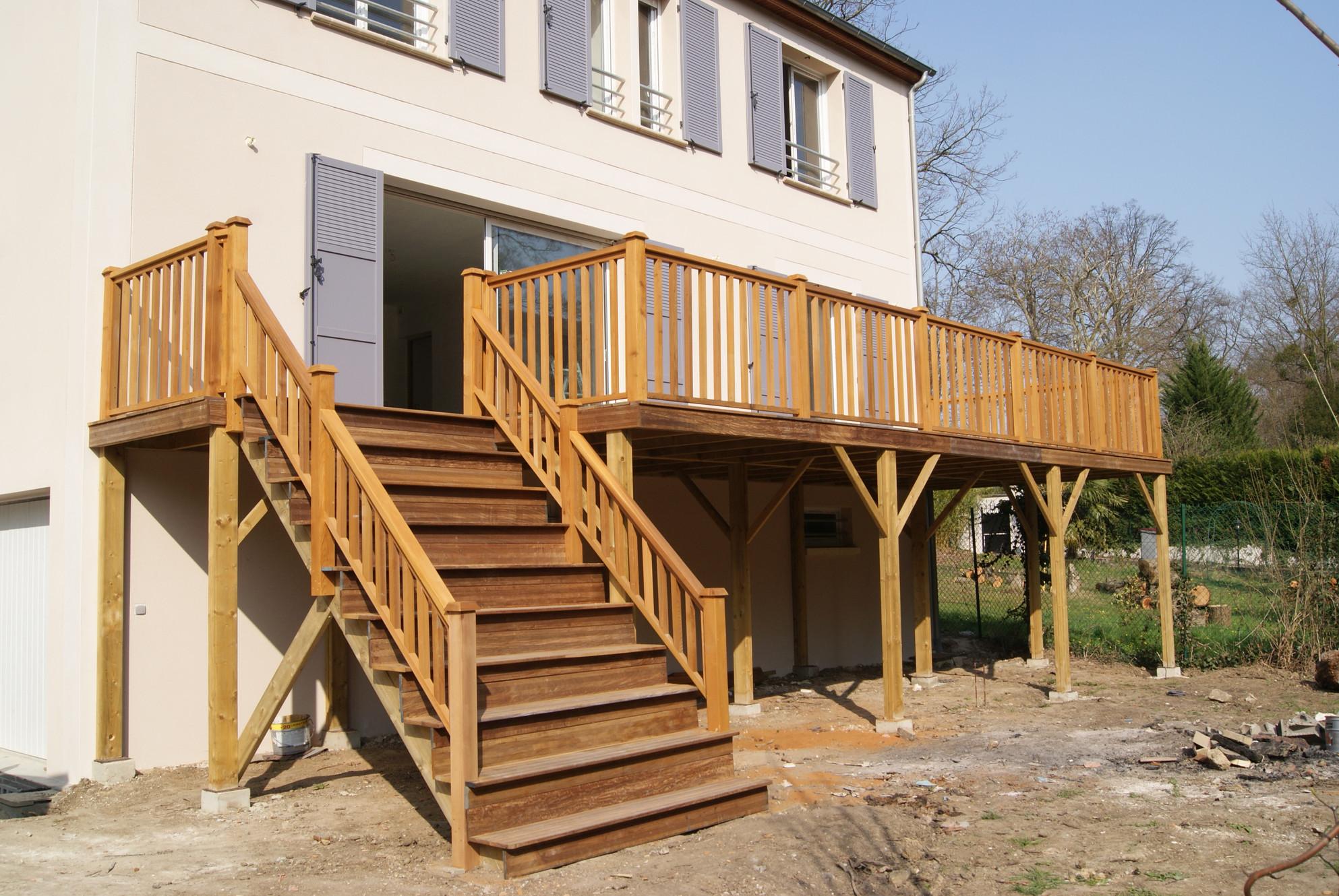 Terrasse En Bois Oise terrasses bois et abris de jardin - colin construction