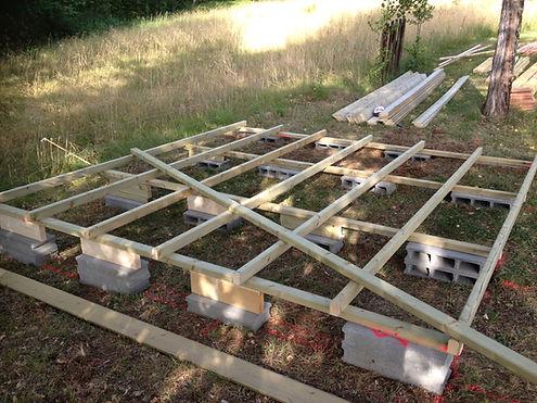 Conception et realisation d'un plancher d'abris de jardin