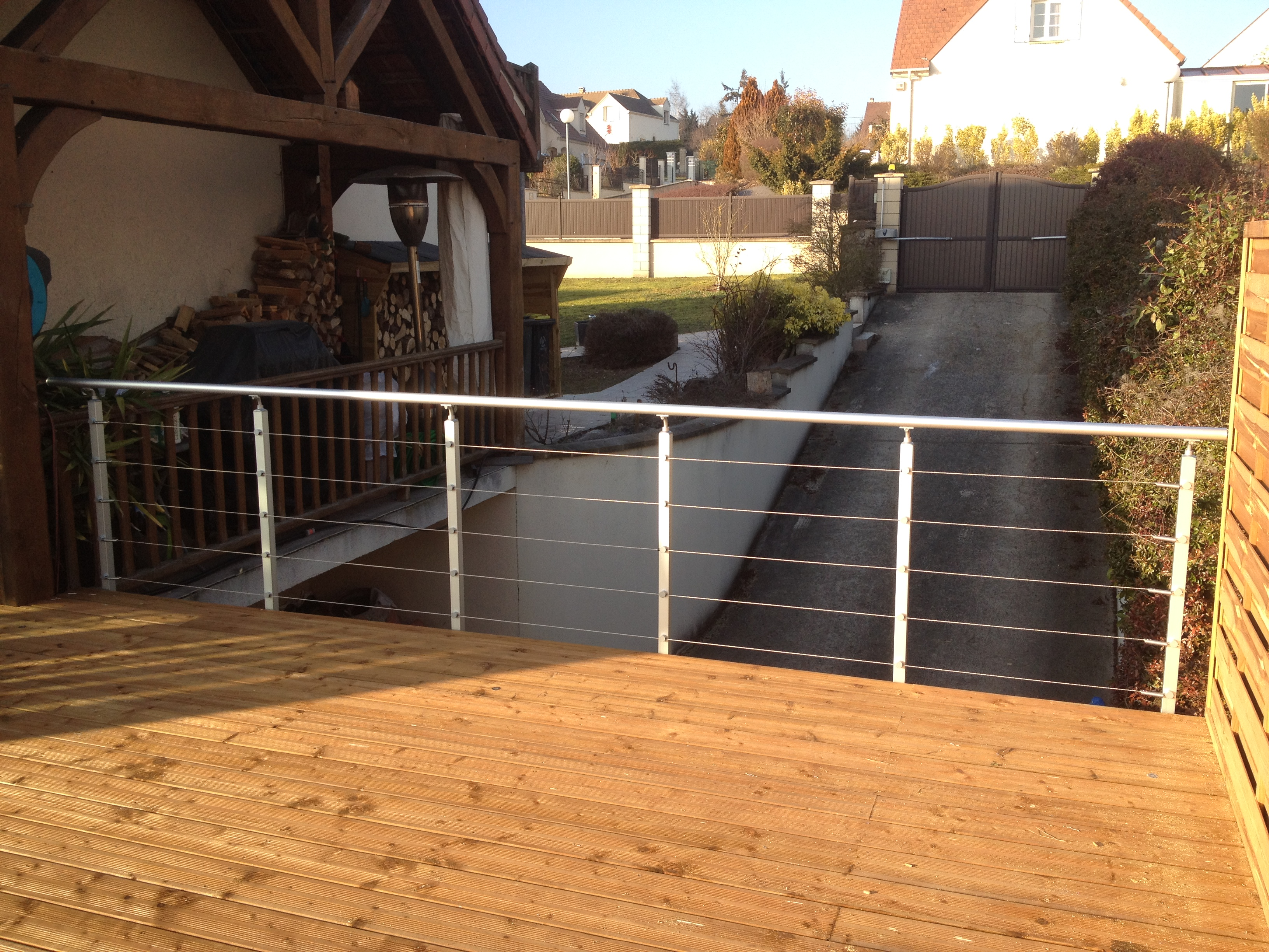 Colin Construction Terrasse pilotis