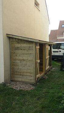 Conception et réalisation d'abris de jardin sur mesure en Ile de France