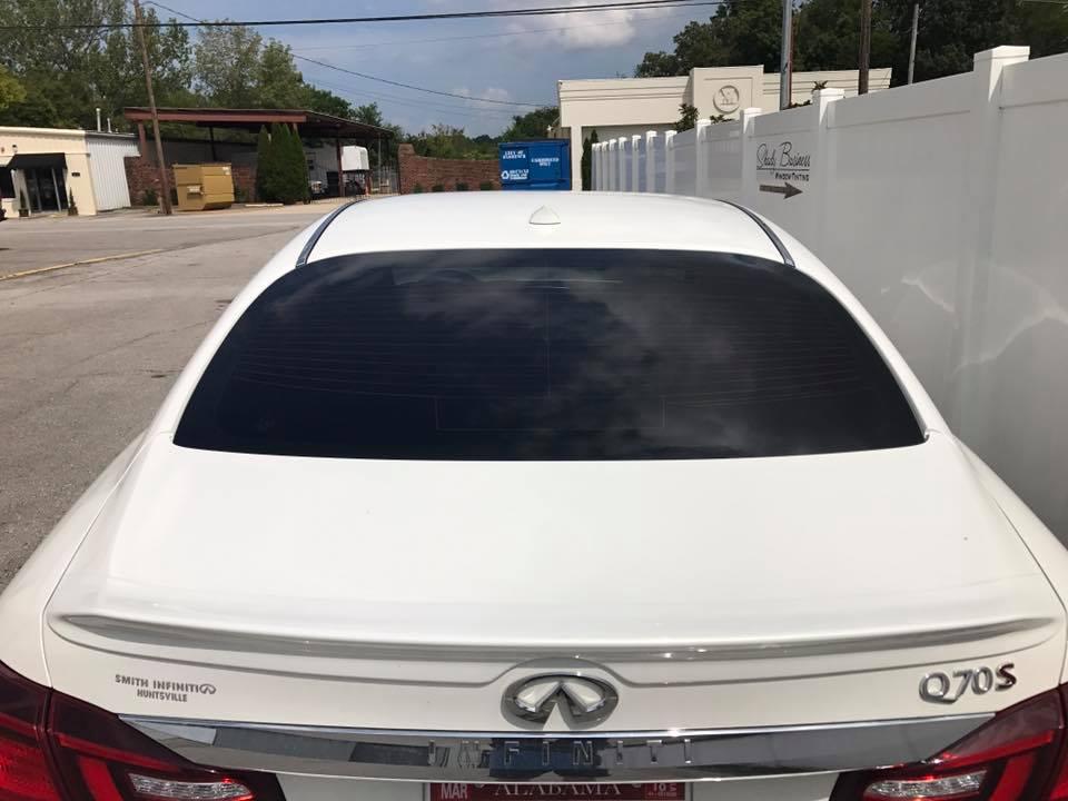 infiniti white rear