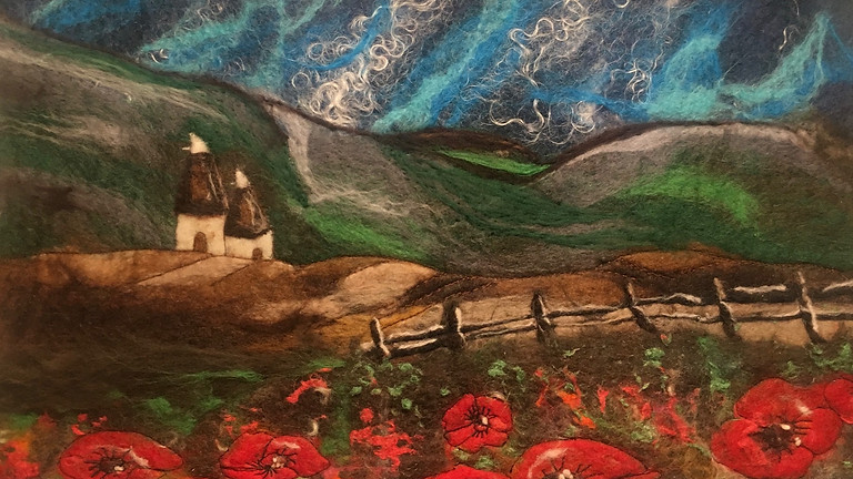 Beginners Painting with Wool Workshop (Wet Felting)