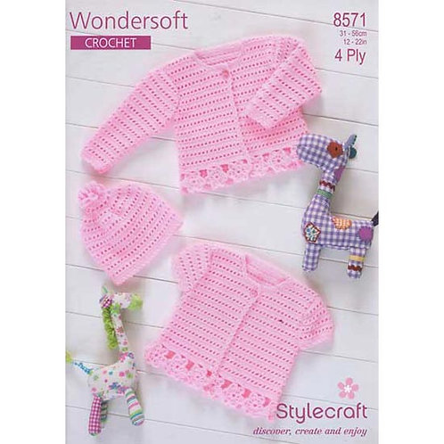 Pattern - Crochet Cardigans & Hat