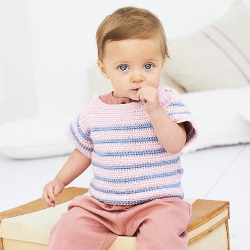 Bambino DK Pattern - Crochet Striped Top and Sweater