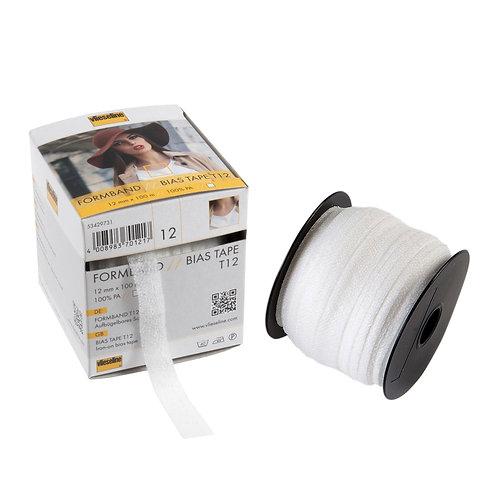 Bias Tape: 12mm: White