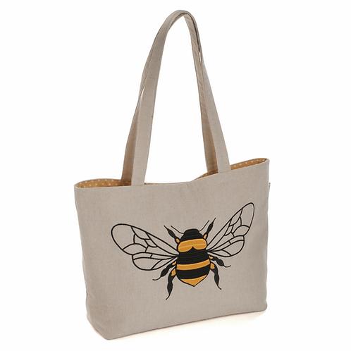 Craft Bag: Shoulder Tote: Appliqué: Linen Bee