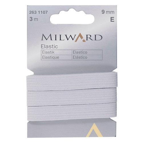 Elastic: White 9mm x 3m