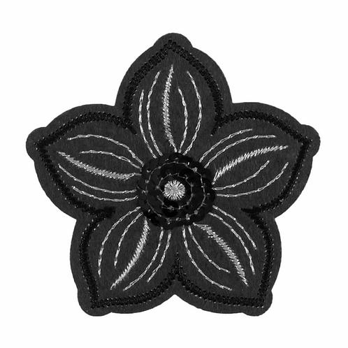 Motif A: Grey Sequin Flower