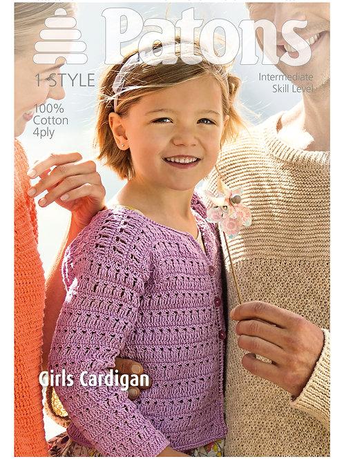 Patons Pattern: Girl's Cardigan - 4068