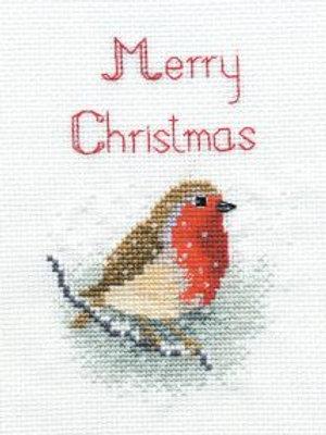 Christmas Card – Snow Robin
