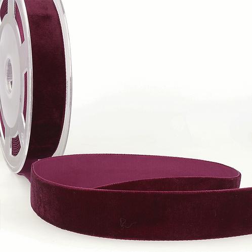 Ribbon: Velvet: Burgundy