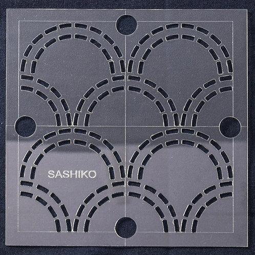 "Sashiko - Waves 4"" Templates"