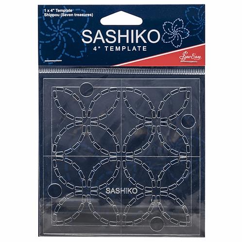 "Sashiko - Seven Treasures 4"" Template"