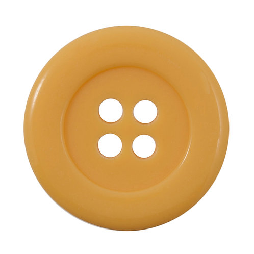 Vogue Yellow Buttons: Size 34mm: Pack 1