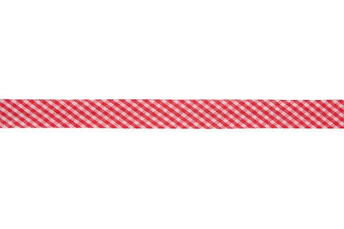 Bias Binding - 15mm Red Gingham (Small)
