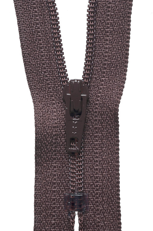 Nylon Dress and Skirt Zip: 10cm: Brown