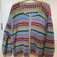 Crocheted Cardigan by Margaret