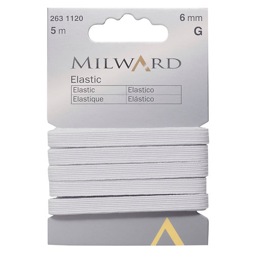 Elastic: White 6mm x 5m