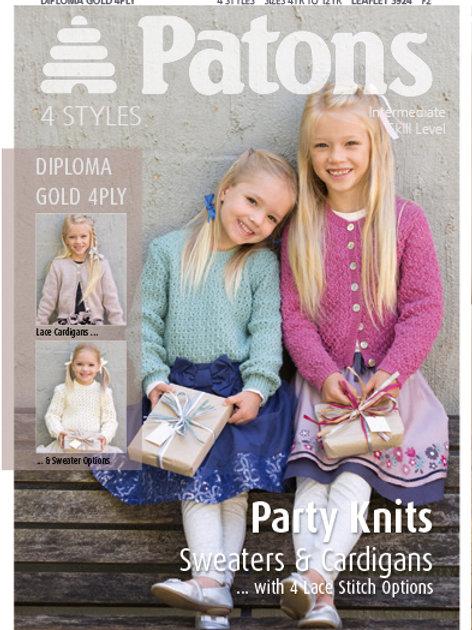 Patons Pattern: Girls Party Knits
