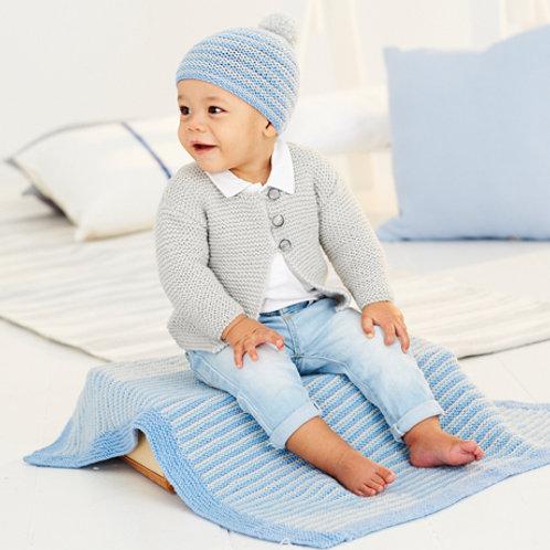 Bambino DK Pattern - Cardigan, Blanket & Hat