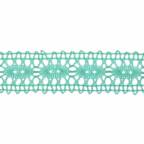 Lace: Polycotton: Green