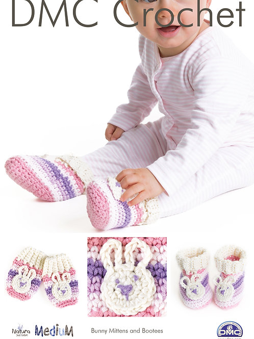DMC Crochet Pattern: Bunny Bootees and Mittens