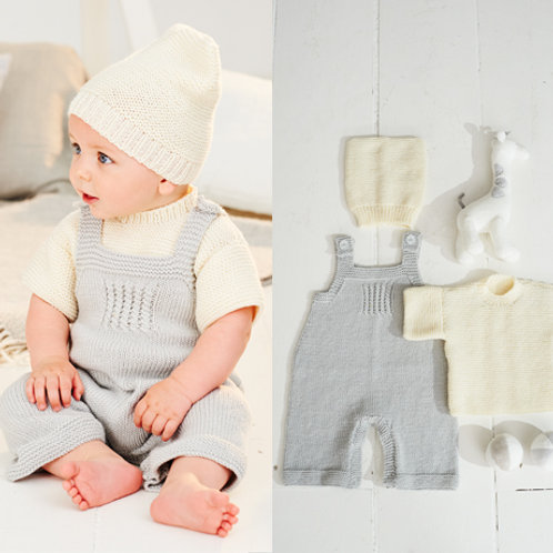 Bambino DK Pattern - T-shirt, Dungarees and Hat