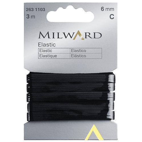 Elastic: Black - 6mm x 3m
