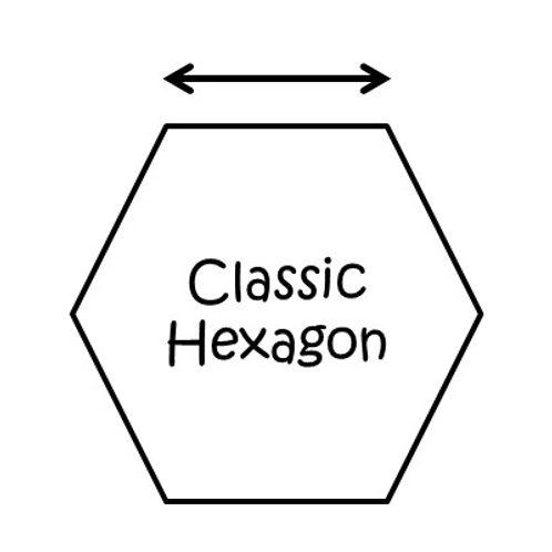 "Hexagons (1"")"