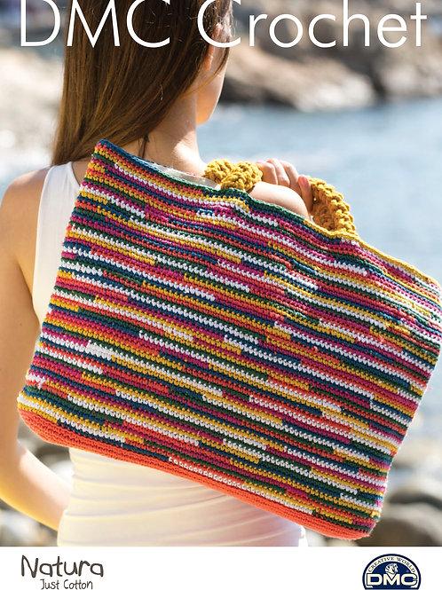 DMC Crochet Pattern: Striped Bag