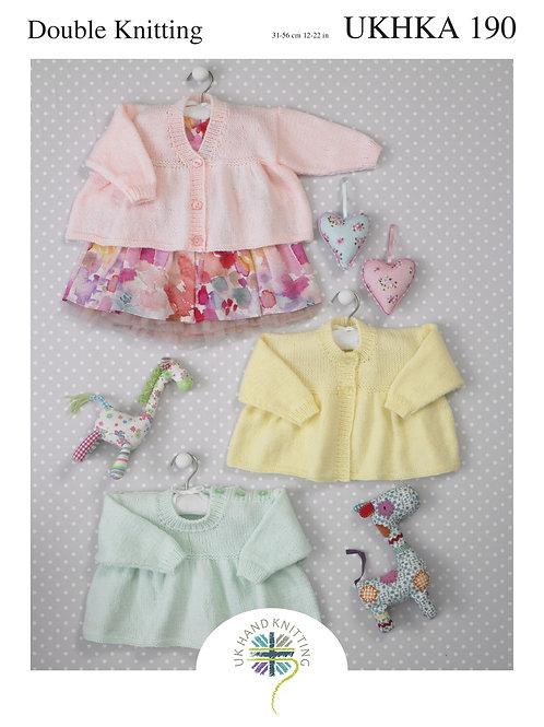 Pattern: Cardigans, Hearts and Toy - 190