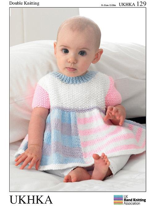 Pattern: Dress, Cardigan and Hat - 129
