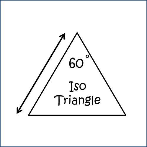 "Isometric Triangles 60 Degree (1.75"")"