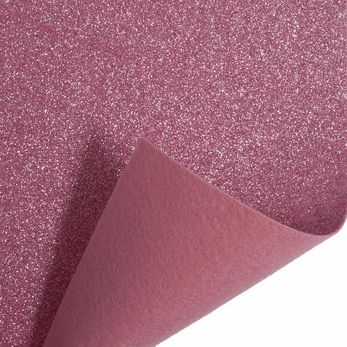 Felt Glitter Sheet - Pink