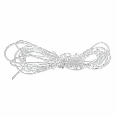 Elasticated Cord: 1.5m x 1mm: Crystal