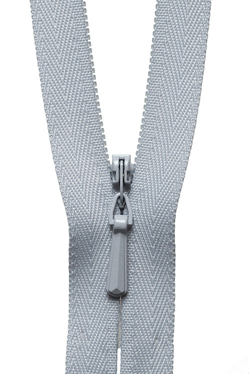 Concealed Zip: 20cm: Silver