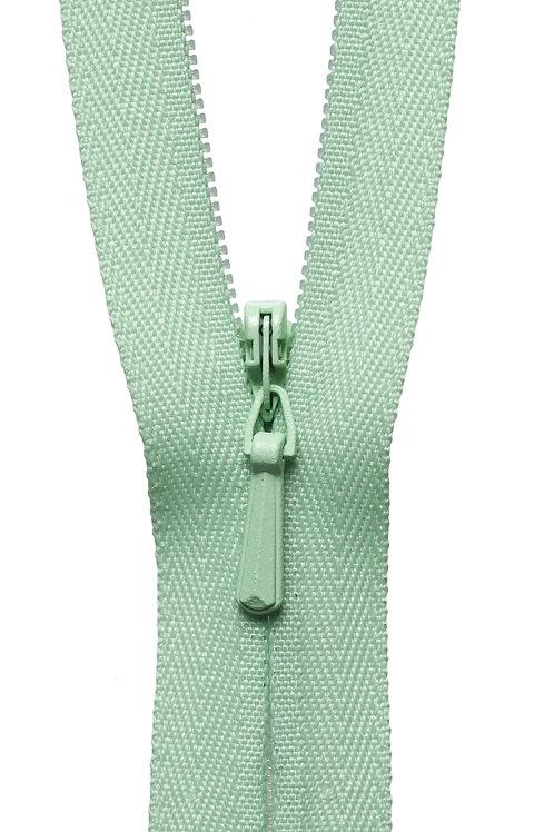 Concealed Zip: 56cm: Pale Lime