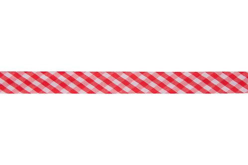 Bias Binding - 15mm Red Gingham