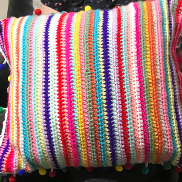 Crocheted Cushion by Margaret