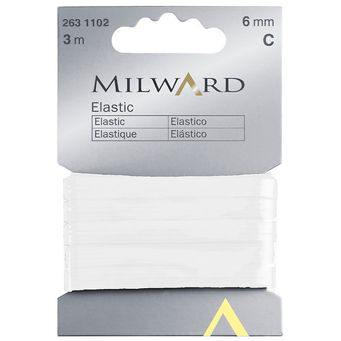 Elastic: White - 6mm x 3m