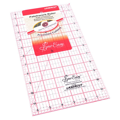 """Sew Easy 12"""" Quilting Ruler"""