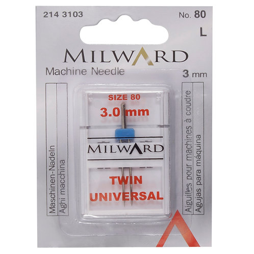 Sewing Machine Needles: Twin: Universal: 80/12 3mm: 1 Piece