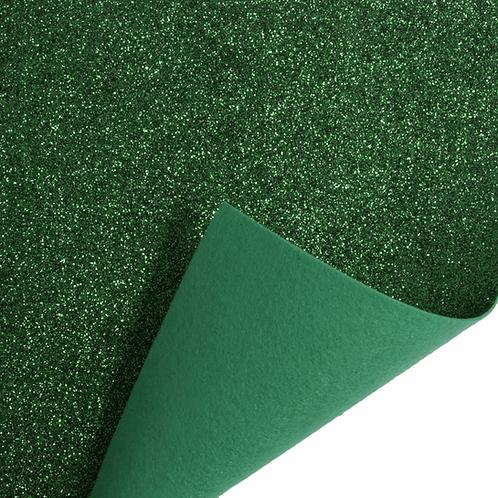 Felt Glitter Sheet - Green